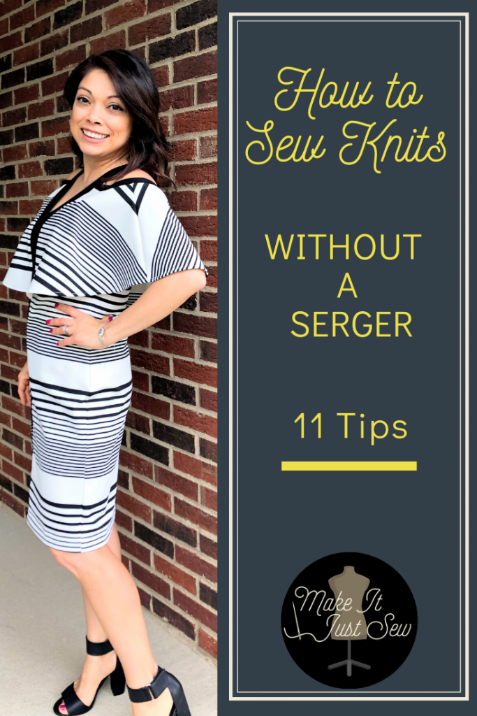 11 Tips on how to sew knits without a serger